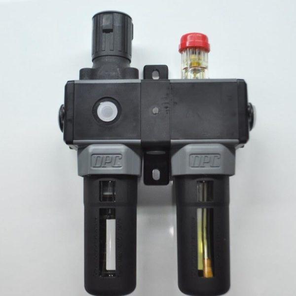 0Filtro separador de liquido + lubricador + regulador de presion